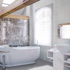 Pomysł na ściankę w łazience #bathroom