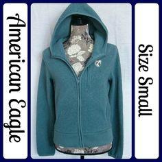Sz S, American Eagle Fuzzy Hoodie Jacket EUC Super cute and fuzzy blue American Eagle zip up hoodie, gently worn! (T68) American Eagle Outfitters Jackets & Coats Sweatshirts & Hoodies