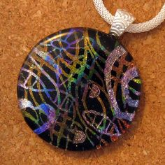Fused Dichroic Glass Pendant Dichroic Pendant by GlassMystique, $35.00