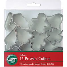 Wilton Mini Metal Cookie Cutter Set, Holiday 12 ct. 2308-1250