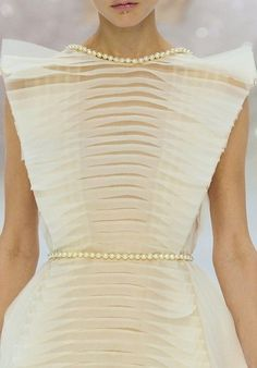 Chanel Couture S/S 2012- white gloss & pearls