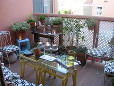 I love the DIY look of this balcony. Charming!  taken from http://www.facebook.com/wholeliving