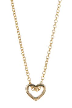 14K Yellow Gold Open Heart Pendant Necklace by Bony Levy on @nordstrom_rack
