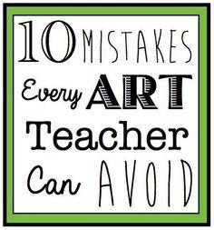 10 Fehler, die jeder Kunstlehrer vermeiden sollte