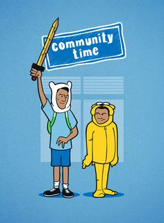 It's Community Time! Abed and Troy become Finn and Jake in this not-so-unbelievable mashup!