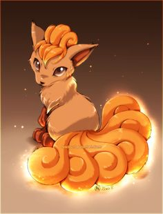 Vulpix by *Nadou on deviantART  My personal favorite pokemon! This is what I always imagined her to look like