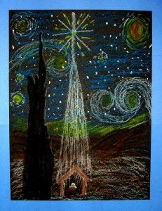 Starry Night in Bethlehem- some lovely tutorials for achievable and rather gorgeous art for Christmas.
