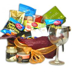 Sophisticated Red Wine and Savory Snack Gift Box to Saint-Vincent-and-the-Grenadines