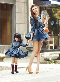 adorable mom and daughter outfits