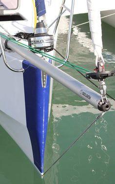 Seldén's aluminum or carbon fiber Gennaker Bowsprit Yacht Design, Boat Design, Liveaboard Sailboat, Boat Navigation, Boating Tips, Sailboat Interior, Boat Restoration, Small Sailboats, Classic Yachts