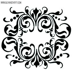 All Things Thrifty Home Accessories and Decor: Stencil patterns just for you!
