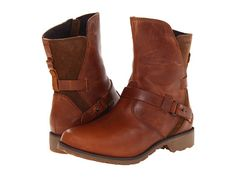 Teva De La Vina Low boot in Bison (dark brown) - waterproof(!) leather upper, adjustable buckle strap #zappos