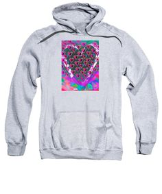 Purchase a hoodie / sweatshirt featuring the image of Punk Love  by Expressionistart studio Priscilla Batzell.  Available in sizes S - XXL.  Each hoodie is printed on-demand, ships within 1 - 2 business days, and comes with a 30-day money-back guarantee.