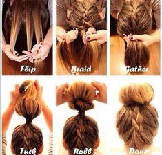Easy Hairstyles For School/work #Beauty #Trusper #Tip