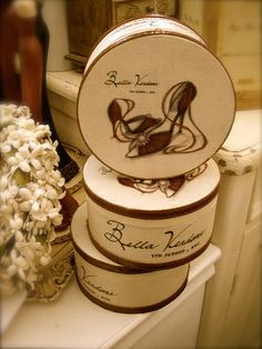Hat boxes for keepsakes :)