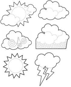 Clip art NUEVO - Sonia.1 - Picasa Webalbums Coloring Sheets, Coloring Books, Coloring Pages, Seasons Activities, Activities For Kids, Weather For Kids, Kindergarten Anchor Charts, Weather Crafts, Diy And Crafts