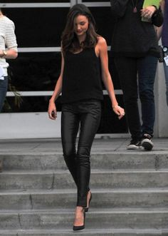 Sexy leather skinnies! Black on black