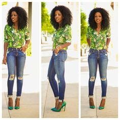 Happy Friday! A tad obsessed with green :)