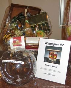 """Love the bucket raffle concept """"The Man Basket."""" But also love that the bucket is labeled.  #RafflesForAuctions"""