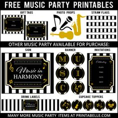 FREE Music Party Printables and more!