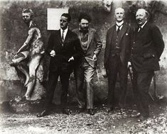 From left to right: James Joyce, Ezra Pound, John Quinn, Ford Madox Ford