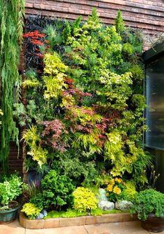 10 Beautiful Minimalist Garden Design Ideas for Small Gardens - Innen Garten - FR Small Gardens, Outdoor Gardens, Outdoor Plants, Indoor Outdoor, Indoor Climbing Plants, Modern Gardens, Outdoor Camping, Vertical Garden Design, Vertical Gardens