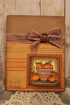 Thankful for you handmade fall | http://cutegreetingcards.blogspot.com
