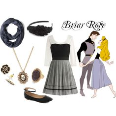 This outfit is inspired by Briar Rose. All items can be found at Modcloth. This is your future halloween costume! Cute Disney Outfits, Disney Dress Up, Disneyland Outfits, Disney Bound Outfits, Cool Outfits, Estilo Disney, Casual Cosplay, Cosplay Outfits, Disney Inspired Fashion