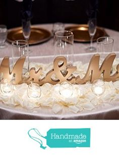 Wooden Mr and Mrs Sign for Wedding Sweetheart Table, Thick Standing Mr and Mrs Letters, DIY Wedding Decor for Head Table or Reception from Z Create Design https://www.amazon.com/dp/B01MQFWUEB/ref=hnd_sw_r_pi_dp_OYpjyb5ZKMJEE #handmadeatamazon
