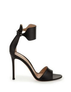 GIANVITO ROSSI Leather Cuff Ankle-Wrap Sandal