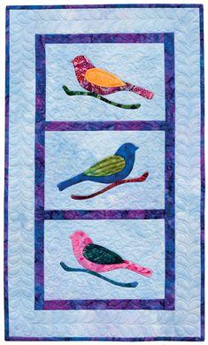 Bird wall hanging, in: Back-Basting Applique book by Barbara J. Eikmeier