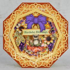 Birthday Blessings, Elegant Centerpieces, Fall Birthday, Heartfelt Creations, Greeting Cards Handmade, Cardmaking, Blessed, Paper Crafts, Autumn