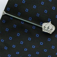 Crown Tie Clip Sterling Silver handcrafted  http://www.yourneckties.com/crown-tie-clip-sterling-silver-handcrafted-2/