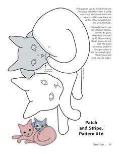 Cat Quilt 30 of 51 Cat Applique, Applique Templates, Applique Quilts, Embroidery Patches, Owl Templates, Cat Quilt Patterns, Applique Patterns, Felt Patterns, Cat Template
