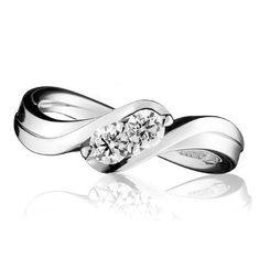 Double Panache Twist diamond ring by simon pure jewellers guildford cranleigh surrey