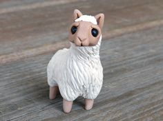 Tiny llama  Handmade miniature polymer clay by AnimalitoClay, $25.00