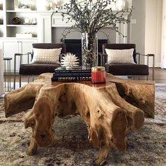 Mother Nature never looked so good. Love the versatility of our Teak Root Coffee Table; it can easily go modern, earthy, eclectic or all of the above. #highfashionhome  http://www.highfashionhome.com/teak-root-coffee-table.html