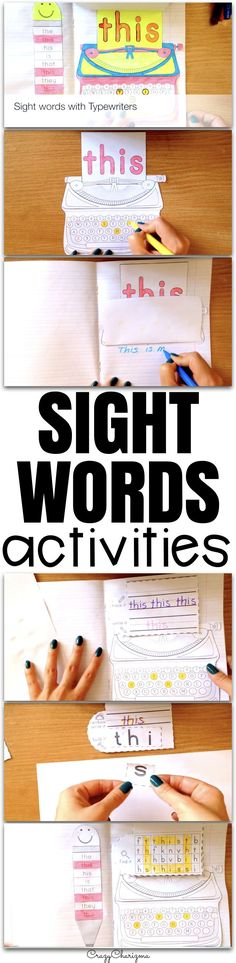 These sight word activities are designed to help kids build confidence with early literacy skills. The packet can be used as an Interactive Notebook, Word Work Activities or No-prep literacy centers. The sight word worksheets provide kindergarten, first grade, and second grade students with effective and engaging sight word practice.