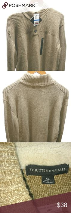 Tricots St. Raphael Men's Pullover Sweater Khaki Marl, Size XL Tricots St. Raphael Sweaters