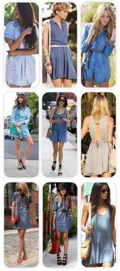 Fashion Trend: Τζιν Φορέματα / Jean Dresses
