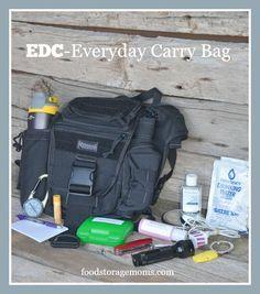 EDC Bag-The Printable List You Really Need| By FoodStorageMoms.com