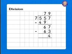 Learn - Division Long Division, Home Schooling, Math, Learning, Words, Simple, Youtube, Ideas, Math Resources
