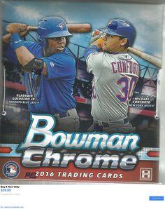 Sports Memorabilia: 2016 Bowman Chrome Hobby Baseball Factory Sealed Unopened Box (2 Autos) BUY IT NOW ONLY: $59.99 #priceabateSportsMemorabilia OR #priceabate
