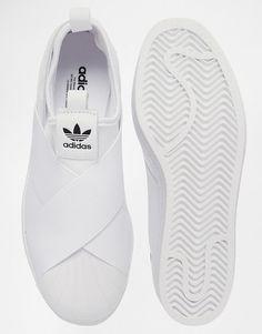 Image 3 of adidas Originals Superstar Slip On White Sneakers