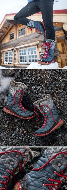 """With 200 grams of Omni-Heat™ Reflective thermal insulation, our Organza Lace Up Boot keeps feet warm and dry down to 25 below. Because a drop in temperature is just Mother Nature's way of saying """"I dare you."""""""
