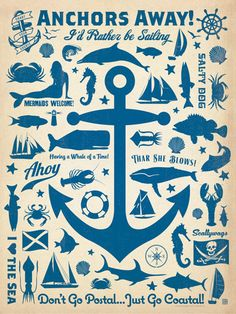 CC Anchor Pattern Print