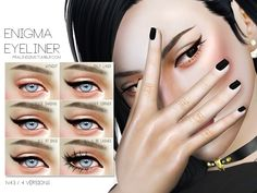Enigma Eyeliner by Pralinesims at TSR Sims 3, Sims Four, Sims 4 Cas, Sims 4 Seasons, The Sims 4 Skin, Sims 4 Cc Eyes, Sims 4 Mods Clothes, Sims 4 Dresses, Sims4 Clothes
