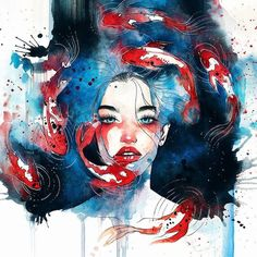 In a swirl of color and texture, artist Hieu—better known asKelogsloops—paints spectacular portraits that feel both intimate and grandiose, as if the subj