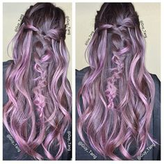 smokey purple hair color - Google Search