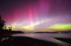 Aurora Australis (southern lights) from Howden in Tasmania.